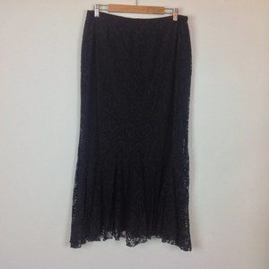 Spencer Alexis Maxi Skirt Womens XL Black Lace